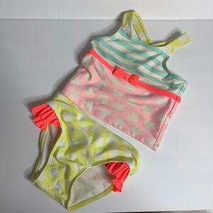 Infant Girl's Cat & Jack Multi Print Tankini
